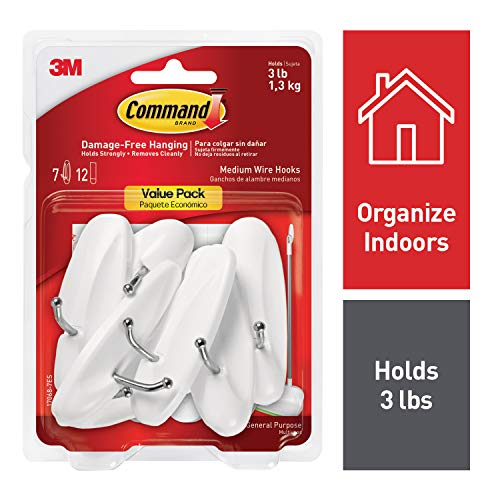 (Command Wire Hooks, Holds 3 lbs, Decorate Damage-Free (17068-7ES))