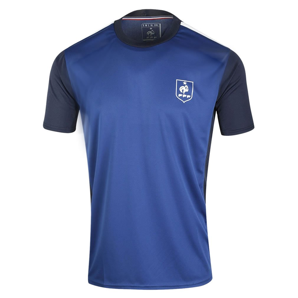 FFF - Official FFF 'French Team' Kids Soccer Jersey - Blue Shirts and T-Shirts of France fff-football-jersey-k-u