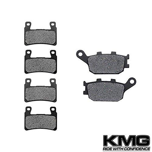 KMG 2001-2006 Honda CBR 600 F4i Sport Front + Rear Carbon Kevlar Organic NAO Brake Pads Set