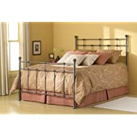 Fashion Bed Group Dexter 6/6 Bed Decorative Metal Castings and Globe Finials, King, Hammered Brown