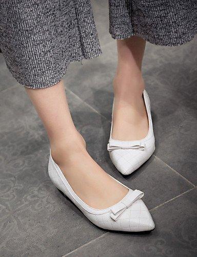 PDX 5 Toe plano de 5 vestido eu42 carrera blanco talón las zapatos uk8 oficina cn43 mujeres us10 casual Flats negro white y señaló A0rn1wAx5q