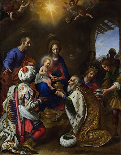 The Polyster Canvas Of Oil Painting 'Carlo Dolci The Adoration Of The Kings ' ,size: 10 X 13 Inch / 25 X 32 Cm ,this Vivid Art Decorative Prints On Canvas Is Fit For Kitchen Decoration And Home Gallery Art And Gifts