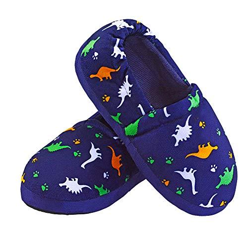 VLLY Kids House Slipper Boys Cute Indoor Winter Warm Slip-on Slippers Soft Memory Foam
