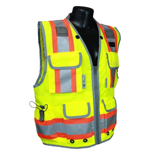 Radians SV55-2ZGD Class 2 Heavy Woven Two Tone Engineer High Visibility Vest (Large)