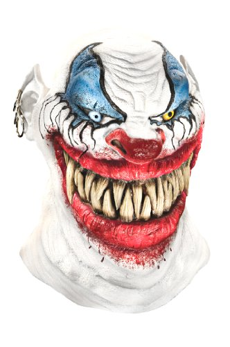 [Foam Latex Mask, Deluxe Chopper The Clown] (Horror Mask)