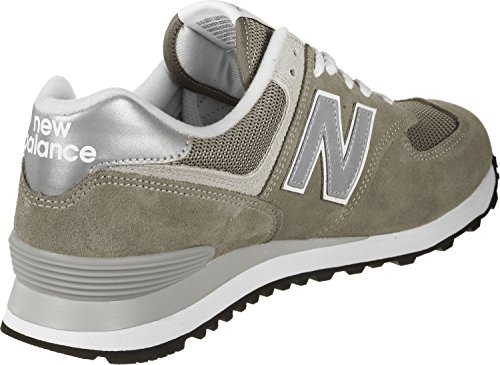 New Balance Men's 574v2 Trainers, Red, 13.5 Gris
