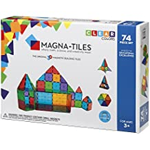 Magna-Tiles Clear Colors 74 Piece Set - 14874