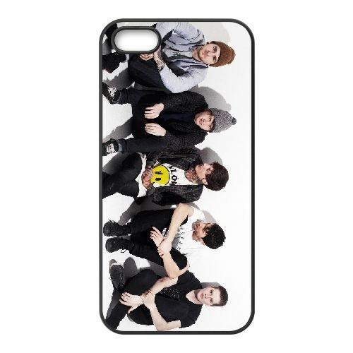 Bring Me The Horizon 009 coque iPhone 5 5S cellulaire cas coque de téléphone cas téléphone cellulaire noir couvercle EOKXLLNCD22442