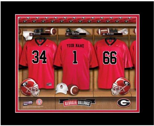 - NCAA Locker Room Print Georgia Bulldogs Football Personalized Framed