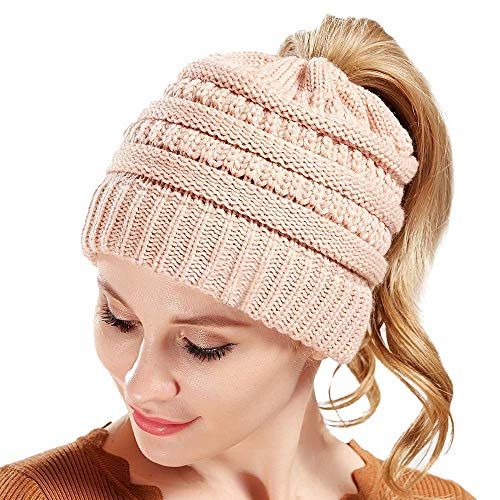 (CHIDY Men Women Cute Trend Solid Color Warm Cap Wool Knit Ski Beanie Skull Slouchy Hat Unisex)