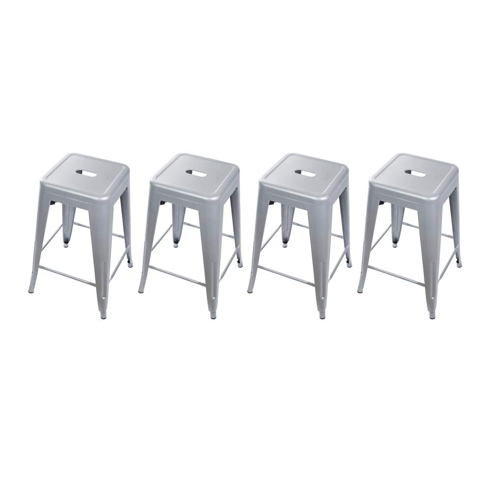 GIA 24-Inch Backless Counter Height Stool, 4-Pack, Gray