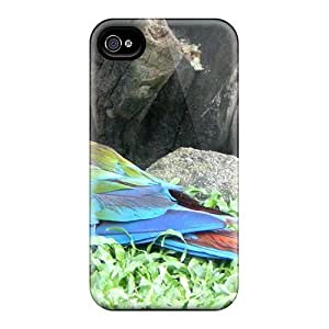 Fashionable FiebTrx3555wrjyk Iphone 4/4s Case Cover For Scarlet Macaw Protective Case