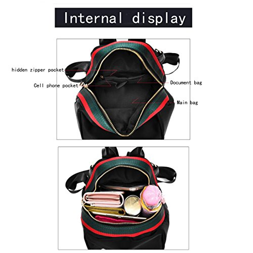 Trip De With Mochila Con Sra Viaje Three Black1 De Tres Cloth Small Tela Pequeña Backpack Oxford De Mochila Hombro Ocio Bolsos Mrs Shoulder Backpack Oxford Shoulders Handbags Black1 Package Bags Leisure Paquete Mano Hombros Bolsas wPTqwf4