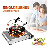 Cusimax Burner, Portable Electric Stove, Infrared Burner Heat-up In Seconds, 7 Inch Ceramic Glass Single Plate Cooktop for Dormitory Office Home Camp, Compatible with All Cookware (Hot Plate)