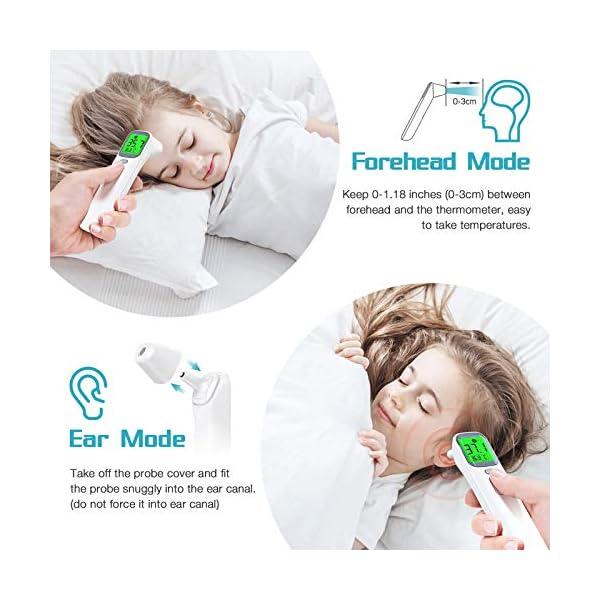 Thermometre Frontal konjac Thermomètre Infrarouge Thermometre Auriculaire Adulte Bébé Enfants Sans Contact avec Alerte…