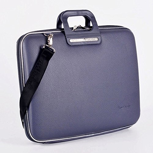 Bombata Bag Firenze Briefcase for 17 Inch Laptop - Charcoal