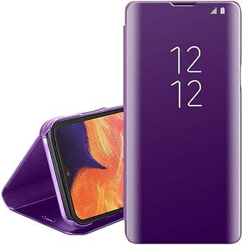 Funda para Samsung Galaxy A10, Galaxy A10, diseño de espejo morado ...