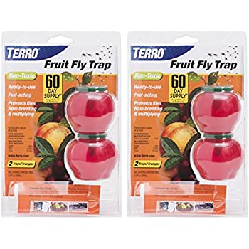 Terro Fruit Fly Trap - 2 Pack (4 Total Traps) T2502-2