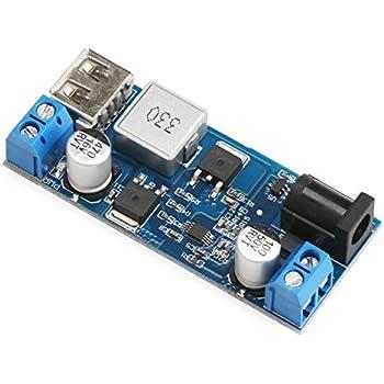 DROK DC-DC Buck Converter Step Down Voltage Regulator Power Inverter Module 24V 12V to 5.2V 5A Variable Power Volt Transformer with USB Port for Phone/Mobile Fast Charging