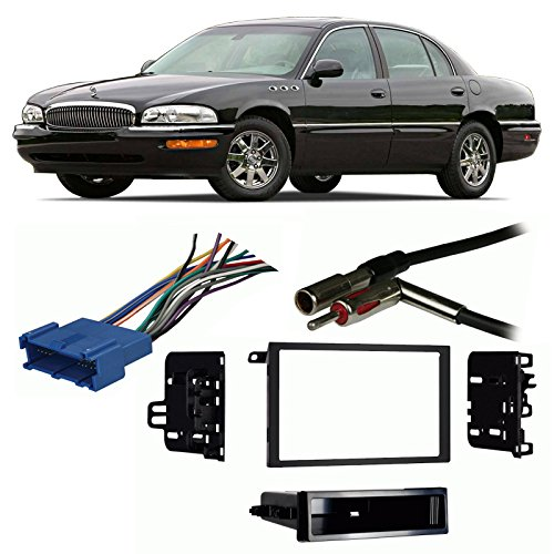Fits Buick Park Avenue 1995-2005 Double DIN Harness Radio Install Dash Kit