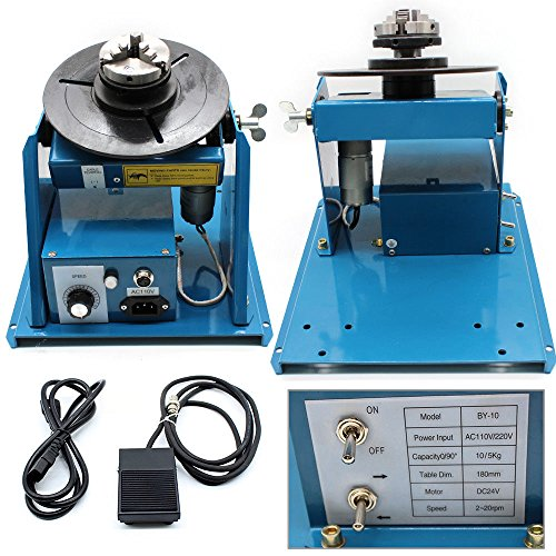 "10KG Rotary Welding Positioner Turntable Table Mini 2.5/"" 3 Jaw Lathe Chuck"