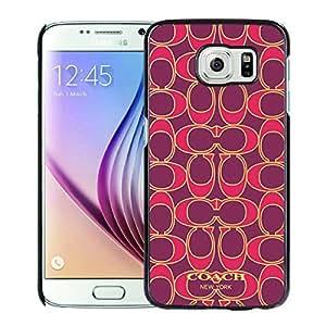 Coach 76 Black Fashionable Design Samsung Galaxy S6 G9200 Plastic Case