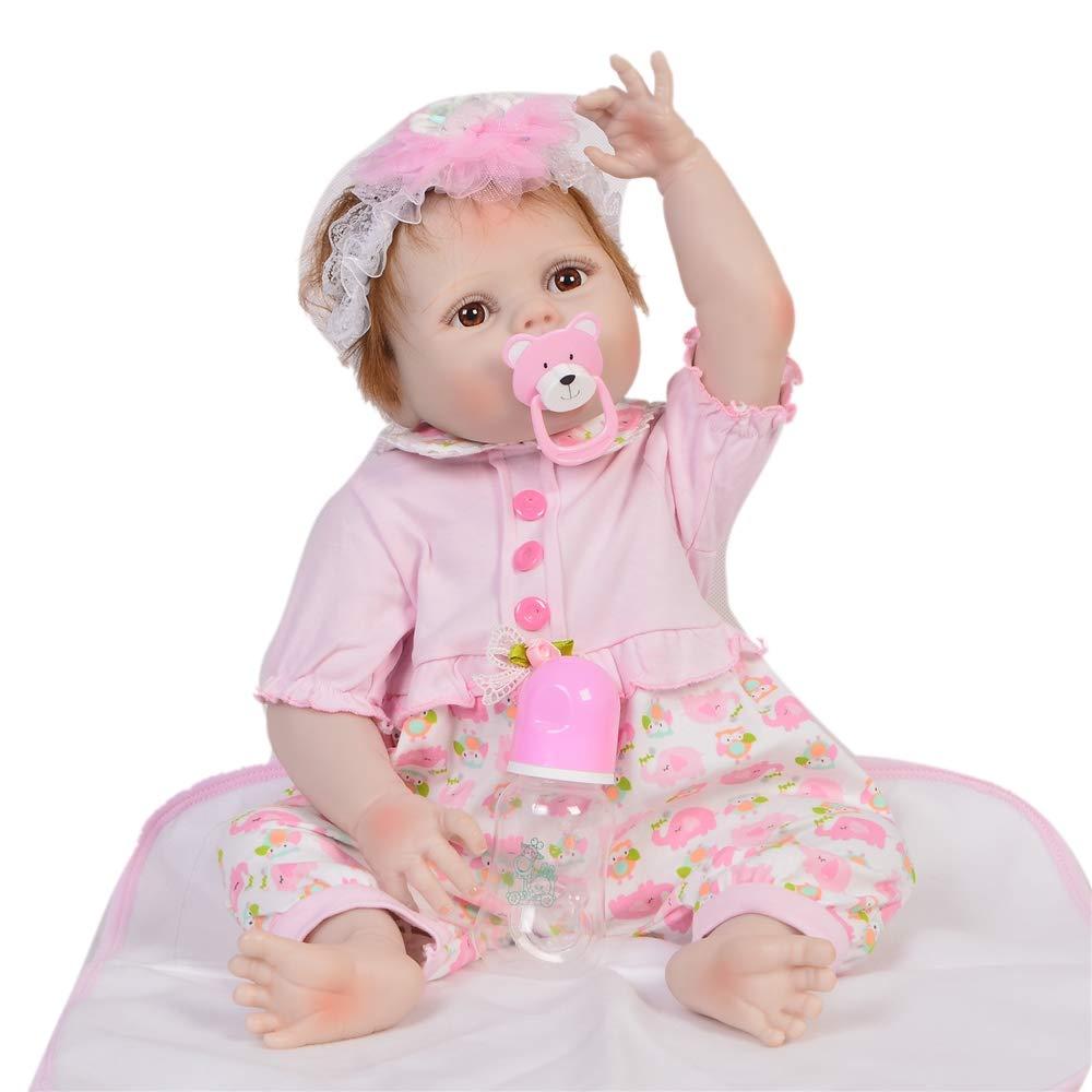 FWBB Realistico Bambola Reborn Bambola Carina 95% Cotone Costume Bambola, 22 Pollici   55cm miglior Regalo per i Bambini - Il miglior Regalo per Neonati Bambini da 1 a 10 Anni.