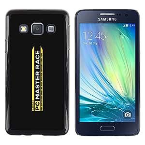 KLONGSHOP // Cubierta de piel con cierre a presión Shell trasero duro de goma Protección Caso - Race Master - Samsung Galaxy A3 //