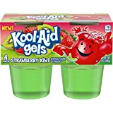 jello snack packs - JELL-O Kool-Aid Strawberry Kiwi Gels Gelatin, 14 oz Cup (Pack of 6)