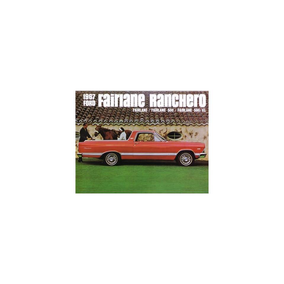 1967 FORD FAIRLANE RANCHERO Sales Brochure Book