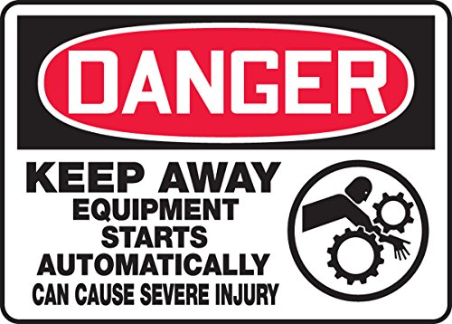 (DANGER KEEP AWAY EQUIPMENT STARTS AUTOMATICALLY CAN CAUSE SEVERE INJURY (W/GRAPHIC) 10