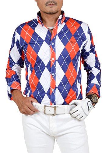 【コモンゴルフ】 COMON GOLF 吸水速乾 オープンタイプ 長袖 ゴルフ ポロシャツ CG-LP710N XXL color:A