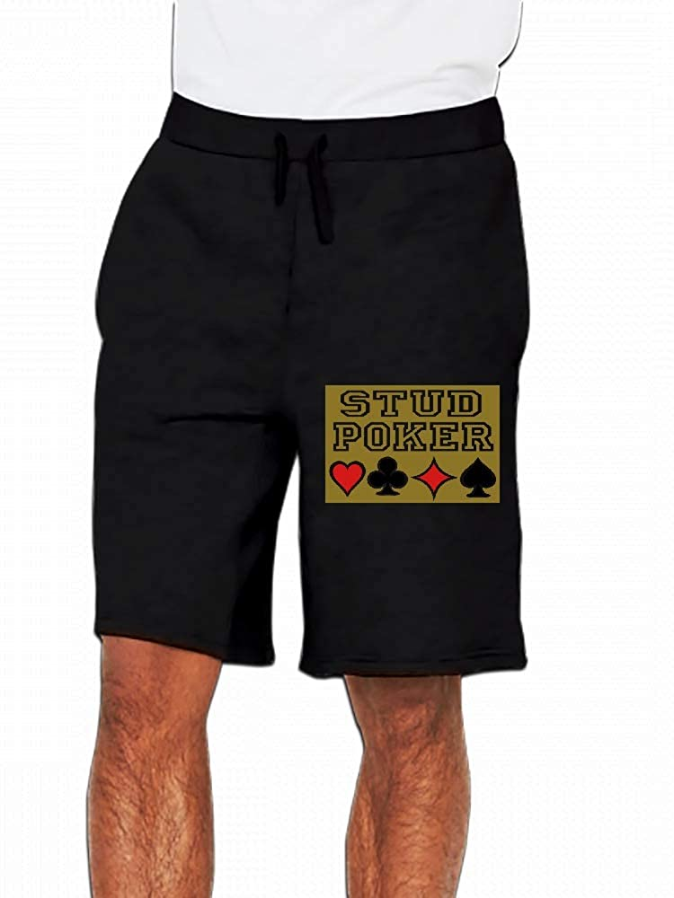 Customize Golden Stud Poker Tee Shirts Mens Casual Shorts Pants