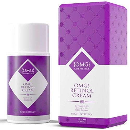 OMG! Retinol Cream Moisturizer - ANTI GRAVITY Anti Aging Formula For Face and Eye, Acne, Wrinkles & Saggy Skin
