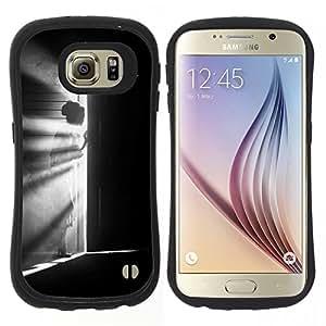 "Hypernova Slim Fit Dual Barniz Protector Caso Case Funda Para Samsung Galaxy S6 [Significado Chica Negro Blanco Profundo""]"