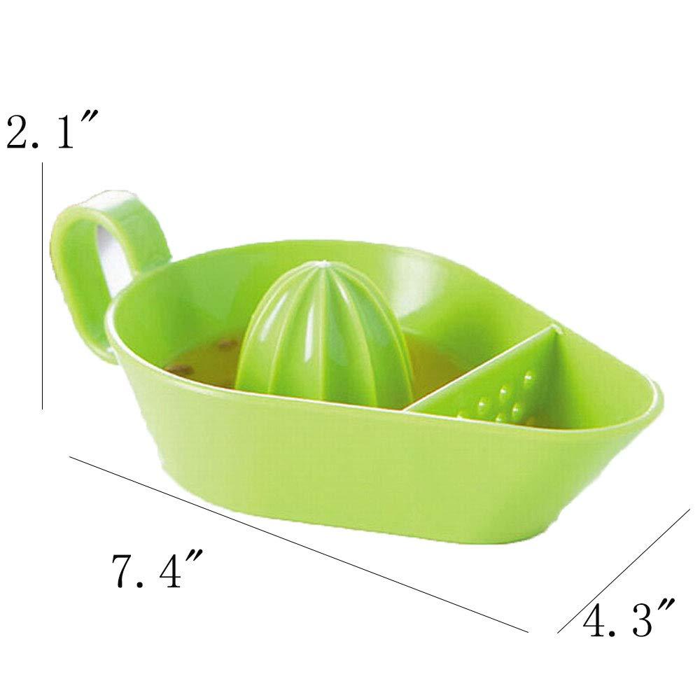 Extractor manual de exprimidor de frutas y cítricos, limón, naranja, libre de BPA, exprimidor de frutas y verduras de alto nutriente, 19,05 x 10,9 x 5,3 cm.