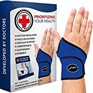 Doctor Developed Premium Wrist Support/Wrist Strap/Wrist Brace/Hand Support [Single] & DOCTOR WRITTEN HAND