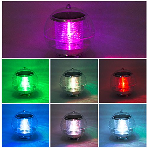 Eletorot Solar Floating Light, Pond Light, Pool light, Hanging Ball Lights with Color Changing, Waterproof ABS Plastic Night Light For Garden, Fountain, Swimming Pool, Party and Home Decor(2 Pack) by Eletorot (Image #6)
