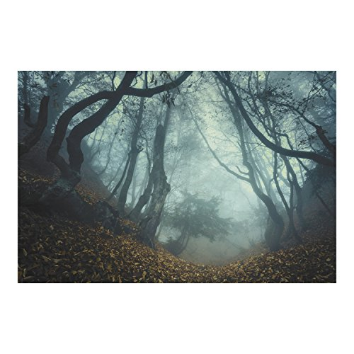 9ft x 6ft Halloween HAUNTED FOREST backdrop wall banner PHOTO prop DECORATION (Fright Props)