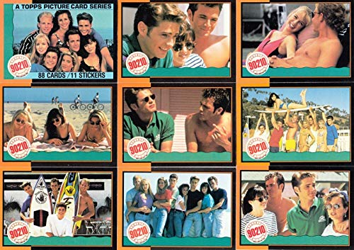 BEVERLY HILLS 90210 1991 TOPPS COMPLETE BASE CARD & STICKER SET OF 88 & 11 TV