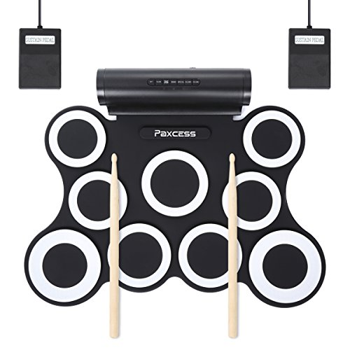 9 Pad Electric Drum Set with Built in Speaker