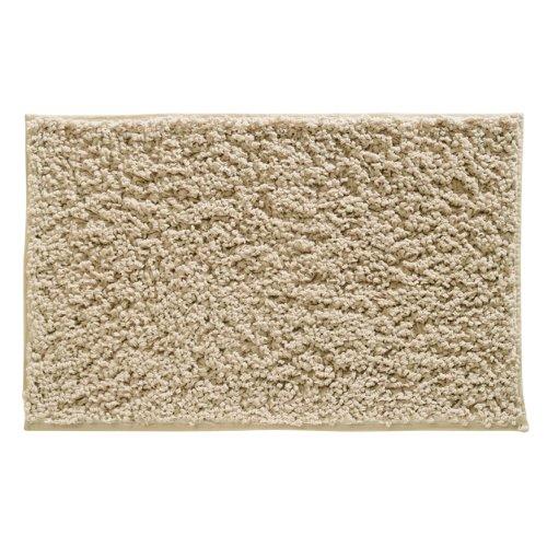 InterDesign Microfiber Fuzi Bathroom Shower Accent Rug, 34 x 21, Wheat