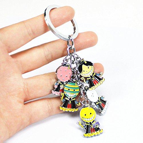 Ansatsu Kyoushitsu Assassination Classroom Octopus teacher Korosensei Metal Keychain character doll pendant Key Ring