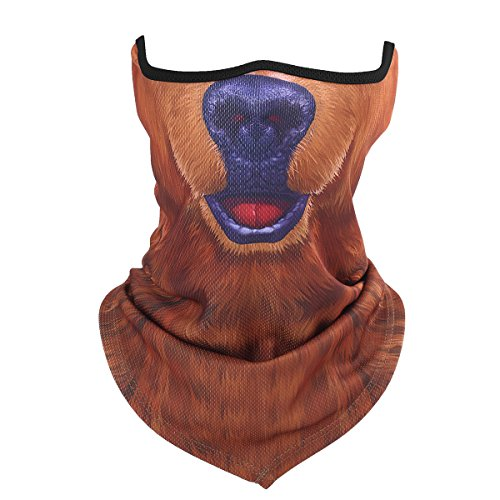 3D Animal Neck Gaiter Windproof Half Face Mask for Cycling Motorcycling Costume Cosplay Halloween Party(24)