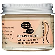 Meow Meow Tweet, Baking Soda Free Grapefruit Deodorant Cream, 2.4 oz.