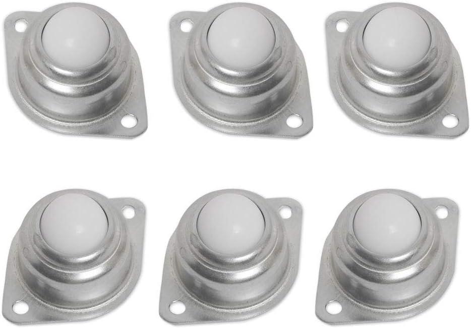 Ruedas de repuesto para muebles Bolas De Rodamiento De Rodillos De Nailon, redondas, con tornillo de brida de metal(25mm)