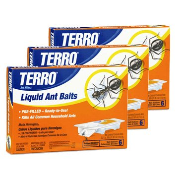 Ant Killer: Terro Liquid Baits (3 Pack, 18 Bait Stations - Liquid Ant Stations Bait