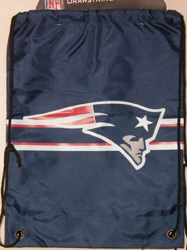 NFL New England Patriots Navy Blue Nylon Drawstring Backpack by Forever Collectibles