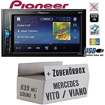 Mercedes Vito/Viano 639 - Radio de Coche Radio Pioneer a100 V - 2DIN USB Touch TFT - Juego de Instalación de Accesorio - Instalación: Amazon.es: Electrónica