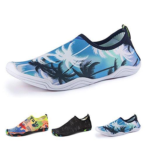 Aqua parc yoga Nautique schwimmschuhe Chaussons Chaussures plage Chaussures Homme Unisexe mer Chaussures Marcher Plage conduire jardin YS Blue séchage bateau Surf rapide aquatiques Femme 687AyUqq